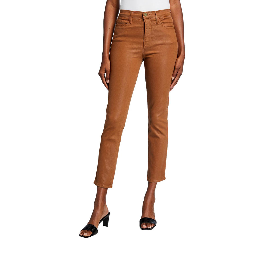 Le Sylvie Coated high-rise straight jeans - Galvanic.co