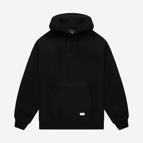 Stacked Logo Neoprene Blend Hoodie - Galvanic.co