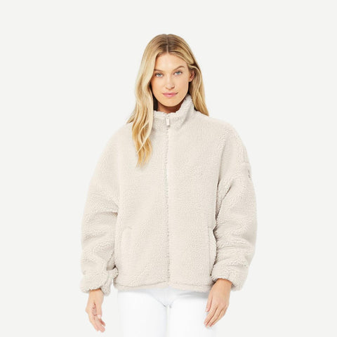 Flurry Sherpa Jacket  Bone - Galvanic.co