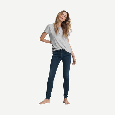 Cate Mid-Rise Skinny in Tiger Lily - Galvanic.co