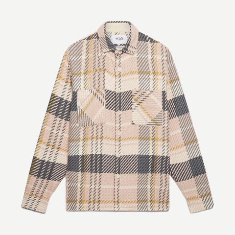 Whiting Overshirt Dusty Pink Plaid - Galvanic.co