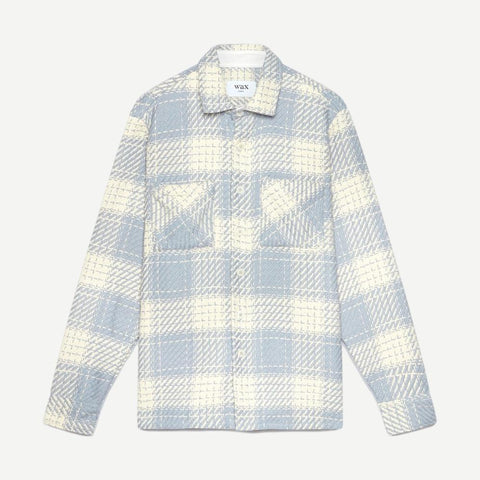 Whiting Overshirt Ecru / Raindrop Beatnik - Galvanic.co