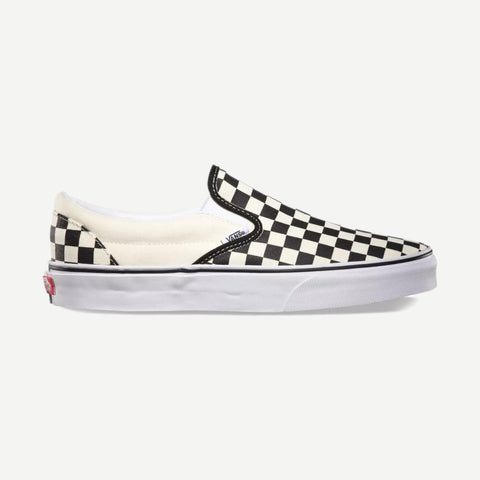 Classic Slip-on Black & White Checkerboard - Galvanic.co