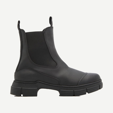 Recycled Rubber Chelsea Rain Boot, Footwear, Ganni, - Galvanic.co