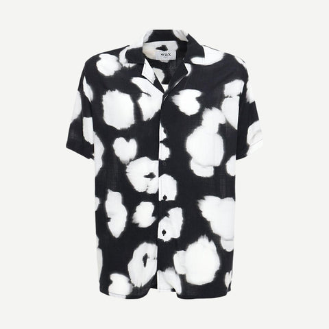 Didcot Poppy Soft Tech Viscose Shirt Black - Galvanic.co