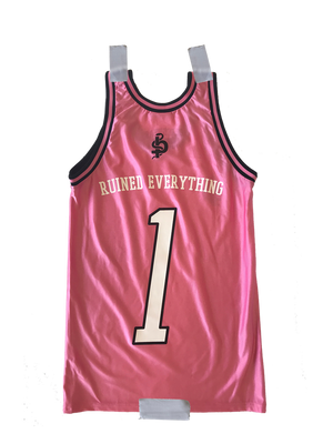 The 1 Custom Jersey (Pink)