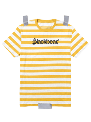 Custom Embroidered Striped Tee (Yellow)