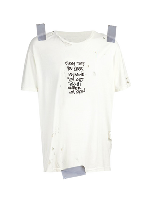 Distressed Lyric Tee