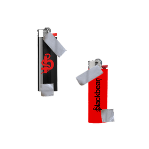 RED AND BLACK LOGO LIGHTERS