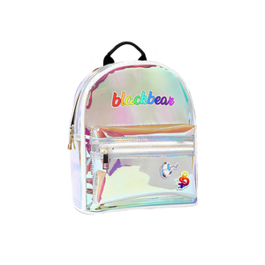 HOLOGRAPHIC BACKPACK AND STICKER BUNDLE