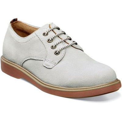 Supacush Jr - White Suede by Florsheim - Ponseti's Shoes