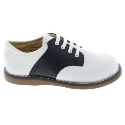 Cheer - White & Navy Saddle by Footmates - Ponseti's Shoes