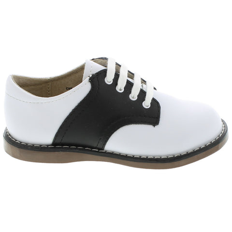 Cheer - White & Black Saddle by Footmates - Ponseti's Shoes
