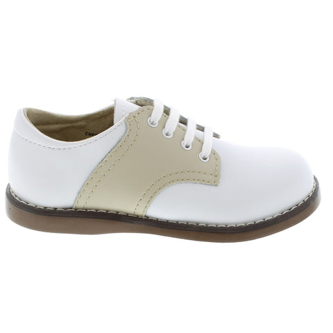 Cheer - White & Ecru Saddle by Footmates - Ponseti's Shoes