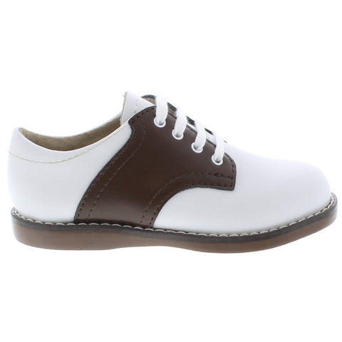 Cheer - White & Taffy Saddle by Footmates - Ponseti's Shoes