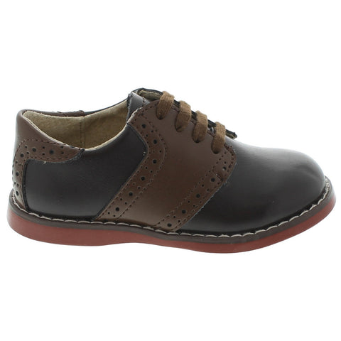 Connor - Brown & Taffy Saddle by Footmates - Ponseti's Shoes