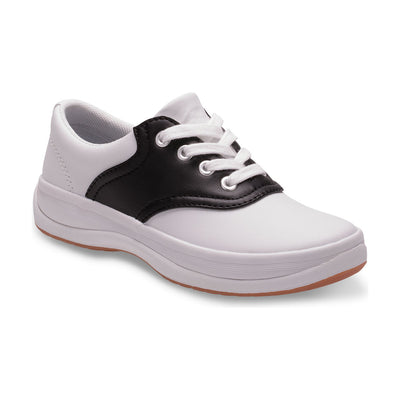 School Days - White & Black by Keds - Ponseti's Shoes