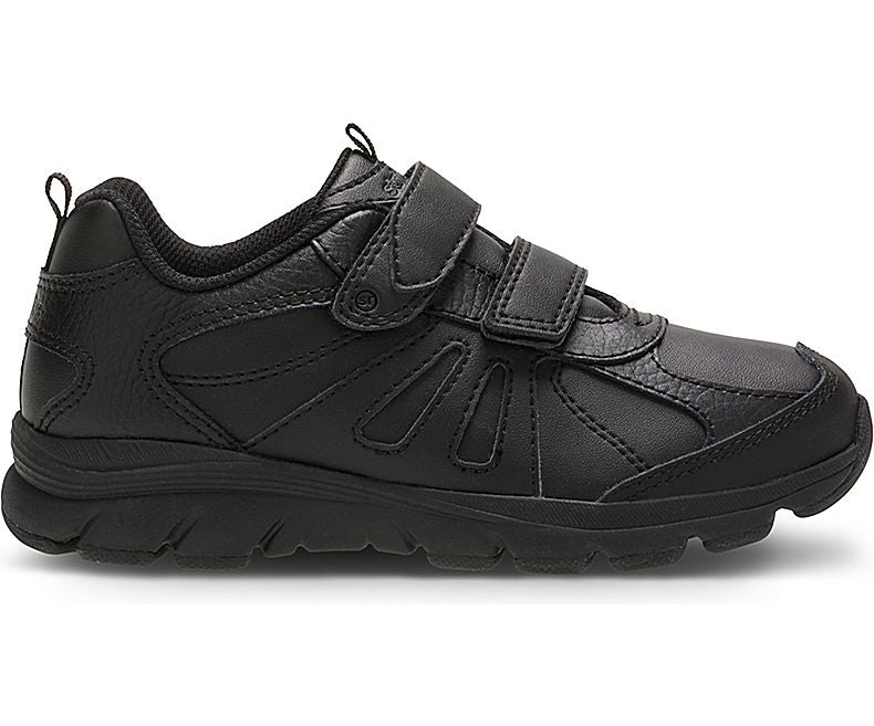 Cooper 2.0 Velcro - Black by Stride Rite - Ponseti's Shoes