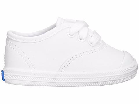 Champion Toe Cap - White Leather by Keds - Ponseti's Shoes