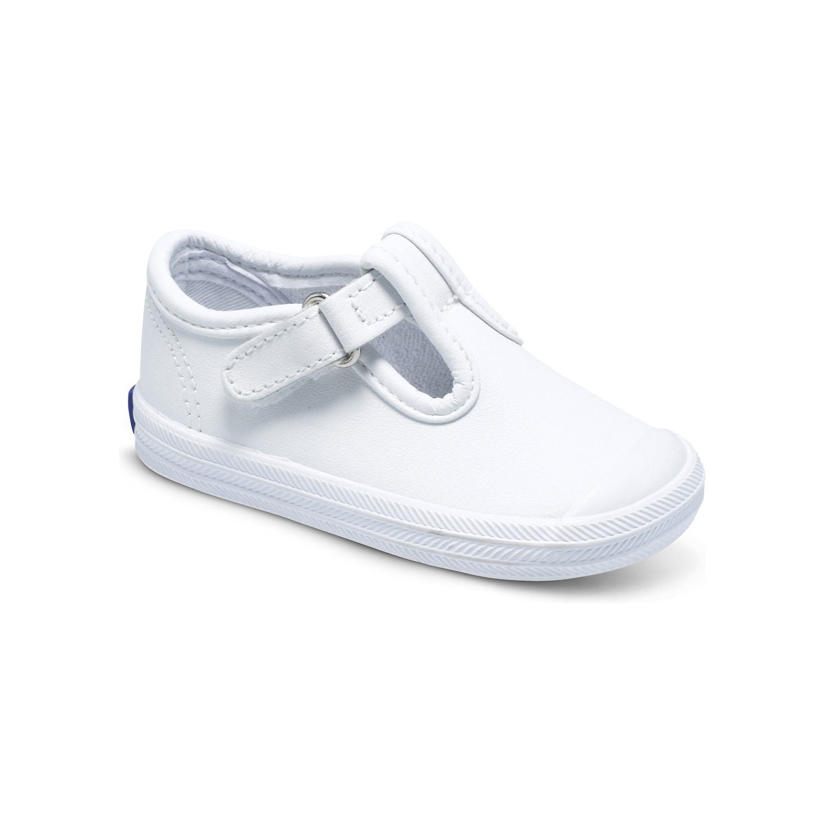 Champion T-Strap - White Leather by Keds - Ponseti's Shoes