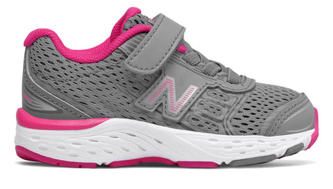 KA680v5 - Steel / Pink Glo by New Balance - Ponseti's Shoes