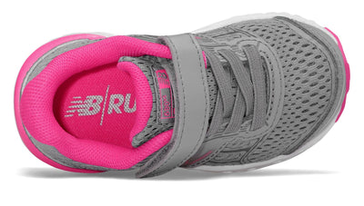 680v5 Velcro - Steel / Pink Glo FINAL SALE by New Balance - Ponseti's Shoes