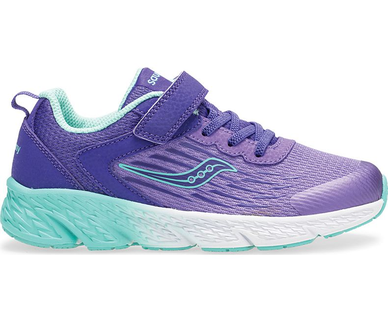 Wind Velcro - Purple by Saucony - Ponseti's Shoes