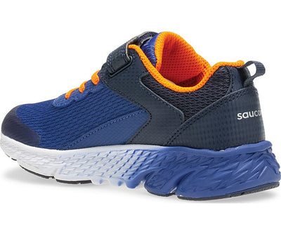 Wind Velcro- Navy by Saucony - Ponseti's Shoes