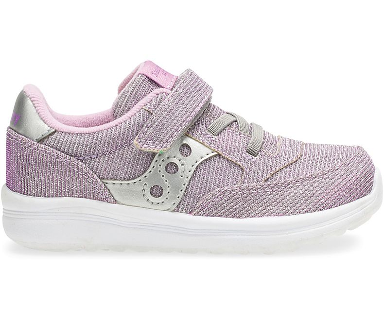 Baby Jazz Lite - Silver / Purple Sparkle by Saucony - Ponseti's Shoes