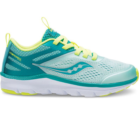 Liteform Miles - Turquoise/Citron by Saucony - Ponseti's Shoes