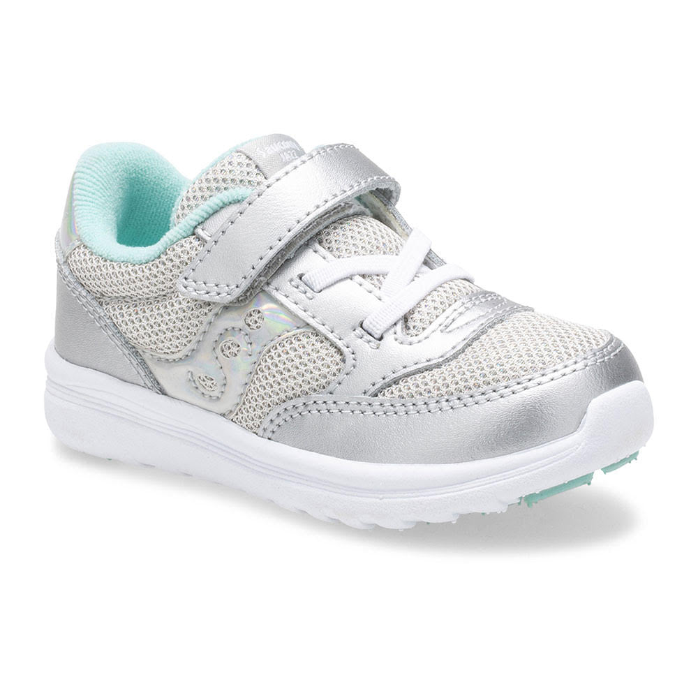 Baby Jazz Lite - Silver Metallic by Saucony - Ponseti's Shoes