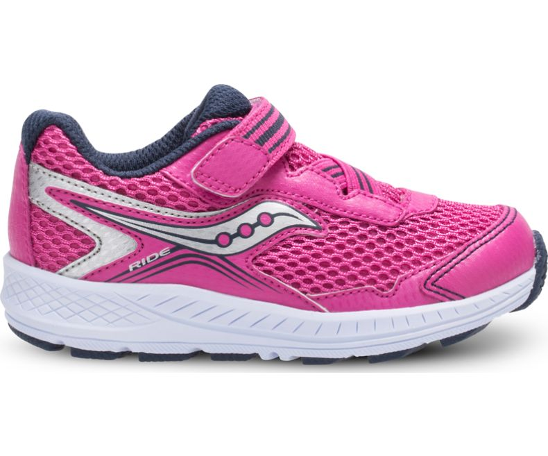 Ride 10 Jr - Pink/Silver by Saucony - Ponseti's Shoes