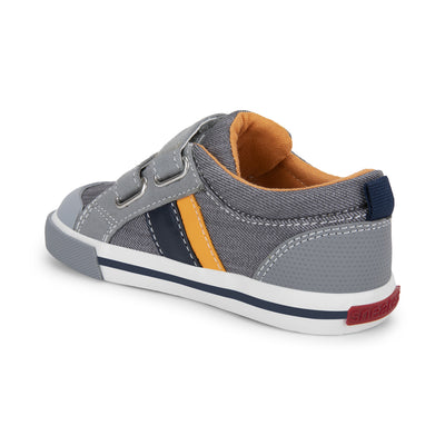 Stevie II - Gray / Orange by See Kai Run - Ponseti's Shoes