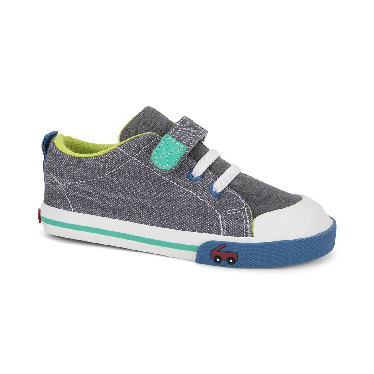 Stevie II - Gray Denim by See Kai Run - Ponseti's Shoes