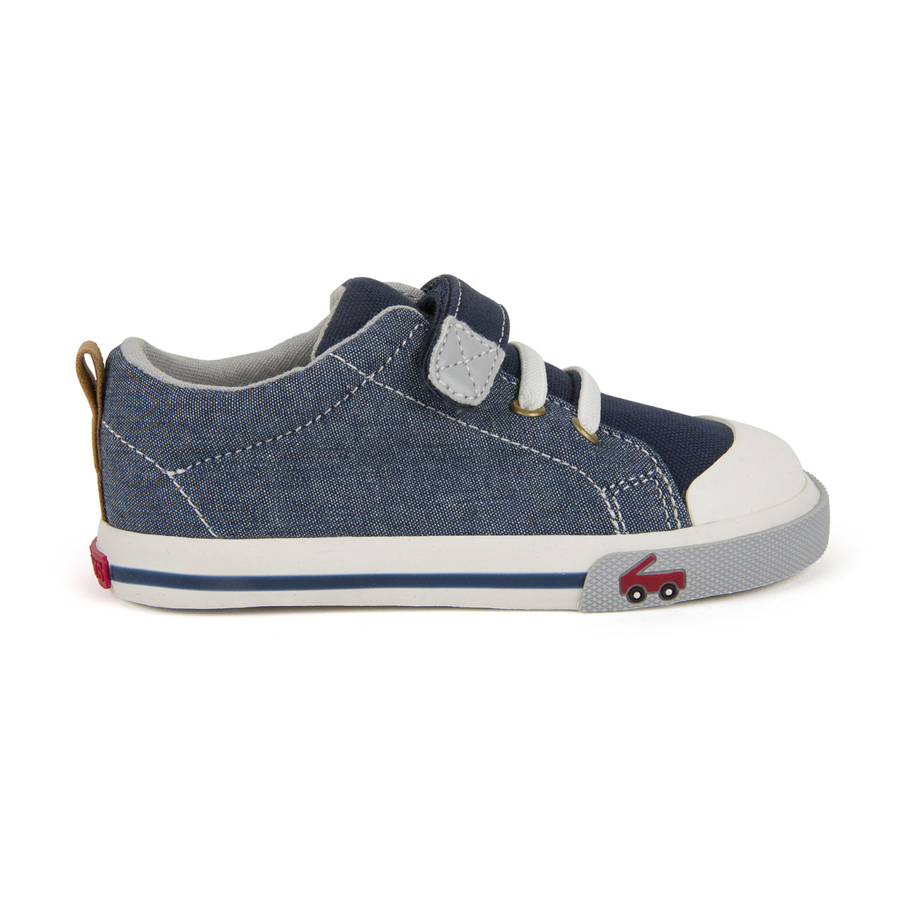 Stevie II - Chambray by See Kai Run - Ponseti's Shoes