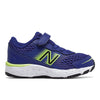 680v6 Velcro - Marine Blue / Lemon Slush / Black by New Balance - Ponseti's Shoes