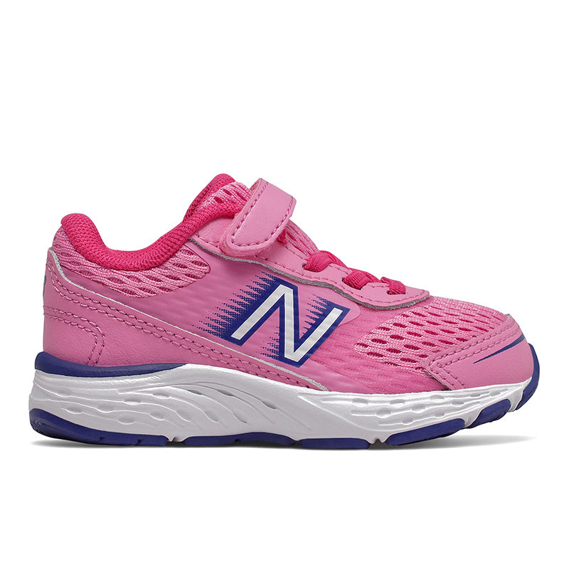 680v6 Velcro - Candy Pink / Exuberant Pink / Marine Blue by New Balance - Ponseti's Shoes
