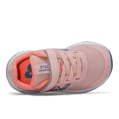 New Balance 455 - Girls Peach Soda / Ginger Pink / Mako Blue by New Balance - Ponseti's Shoes