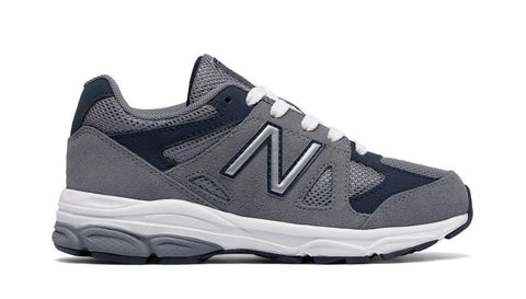 KJ888 - Grey / Navy by New Balance - Ponseti's Shoes