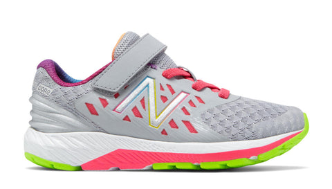 FINAL SALE: Velcro FuelCore Urge v2 - Grey with Pink by New Balance - Ponseti's Shoes