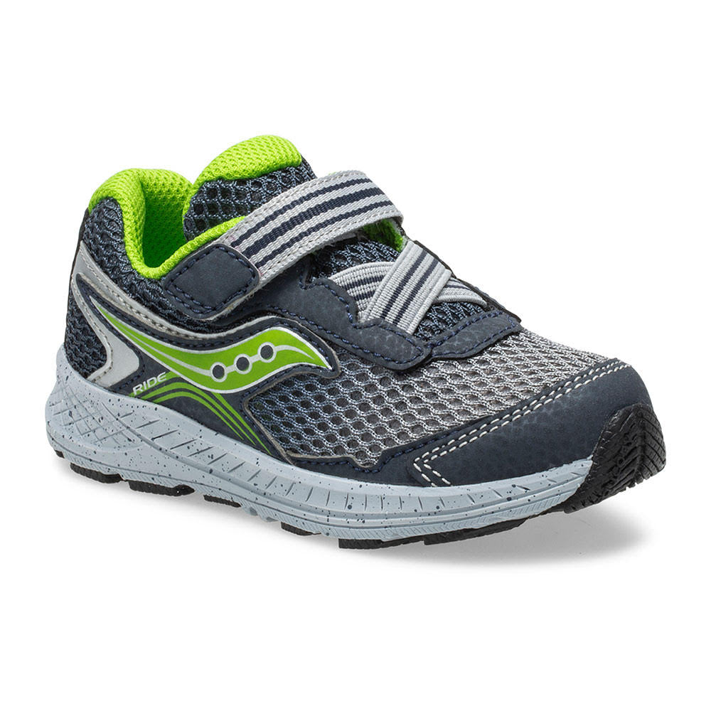 Ride 10 Jr - Navy / Green by Saucony - Ponseti's Shoes