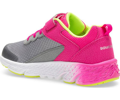 Wind Velcro - Grey / Pink FINAL SALE by Saucony - Ponseti's Shoes