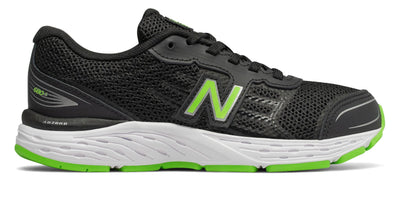 680v5 - Black/Green by New Balance - Ponseti's Shoes
