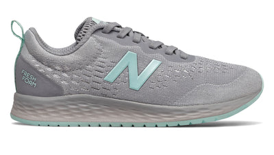 Fresh Foam Arishi - Silver Mink with Bali Blue & Silver Metallic by New Balance - Ponseti's Shoes