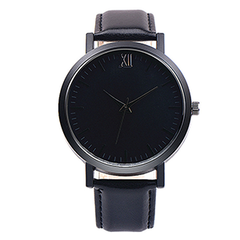 Watch 101 Unisex Black Leather Watch - W101BK