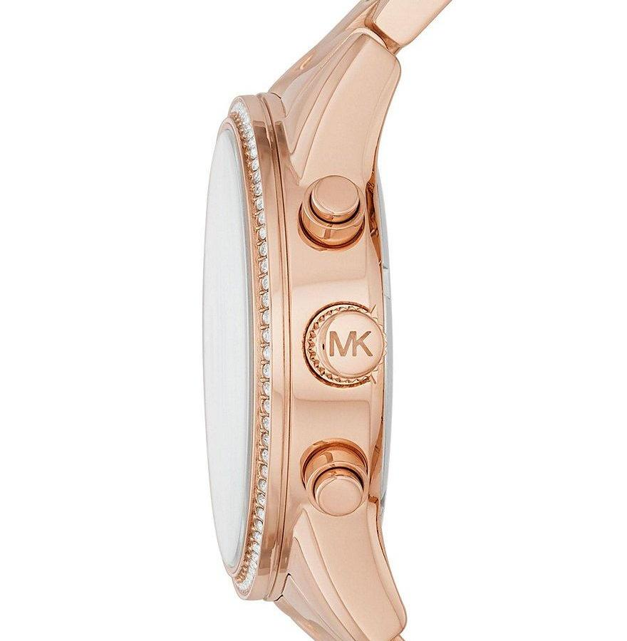 2707db413667 ... Michael Kors Ladies Rose Gold Ritz Watch - MK6357 ...