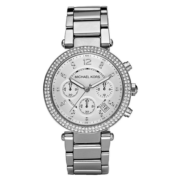 Michael Kors Ladies Silver Parker Watch - MK5353