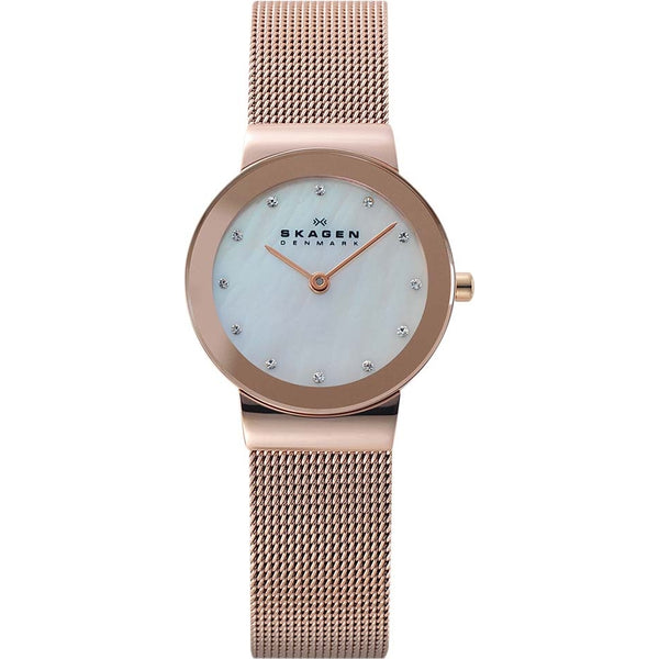 Skagen Ladies Klassik White Rose Gold  Watch - 358SRRD