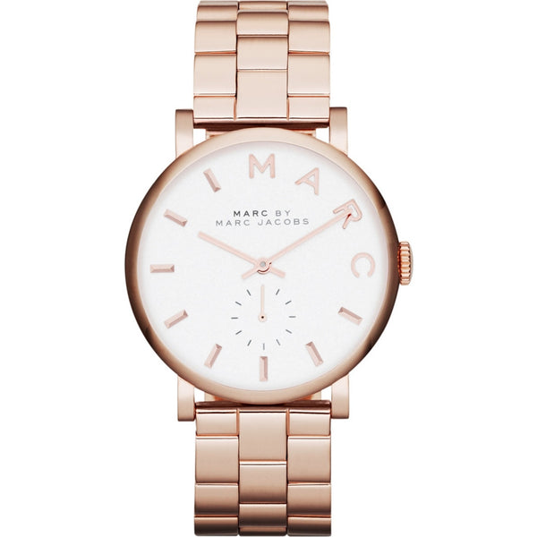 Marc Jacobs Ladies Rose Gold Plated Baker Watch - MBM3244