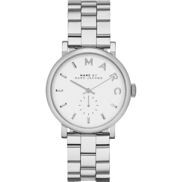 Marc Jacobs Ladies Baker Silver Tone Watch - MBM3242
